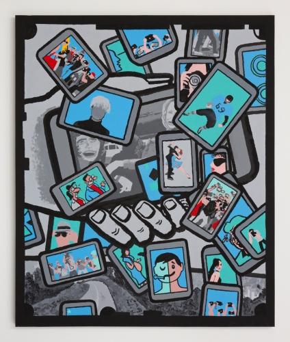 """Derek Boshier, """"Paris France, Paris Texas, Paris Hilton,"""" 2011"""