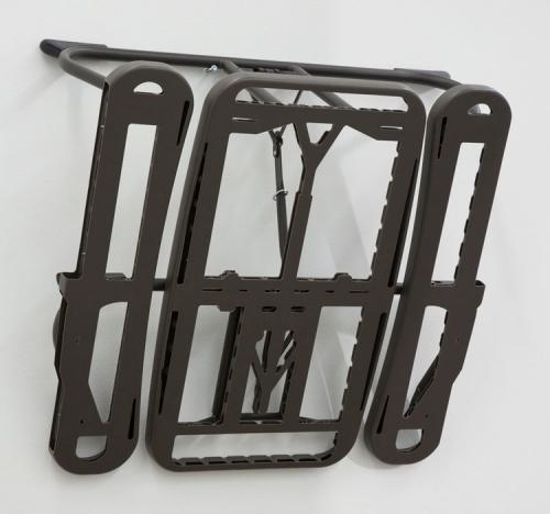 "Anne Libby, ""Ringed One (CGLRs)"", 2015, high-density polyethylene, powder coated steel"