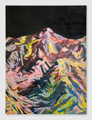 """Mt. Wilson (Lavender, Pink, Grey, Blue, Black),"" 2015."
