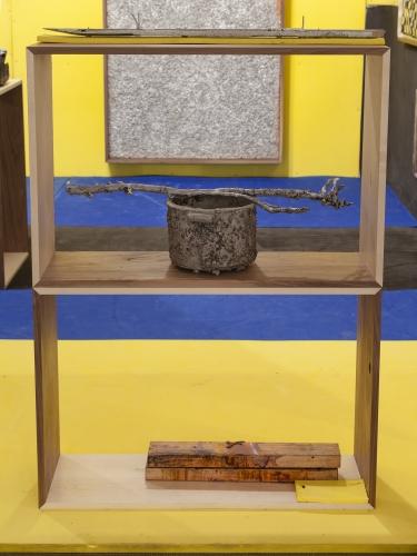 """NS Pot,"" 2015. Installation view at NADA Miami (Martos Gallery Booth), 2015"