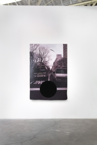 """Rose Marcus, """"Green Light (One Point Perspective),"""" ck1 daily installation view, 2014."""