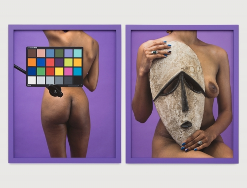 """Awol Erizku, """"Study of the body with a mask,"""" 2018"""