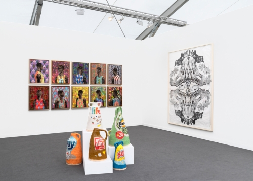 Installation view, Frieze New York, 2019.