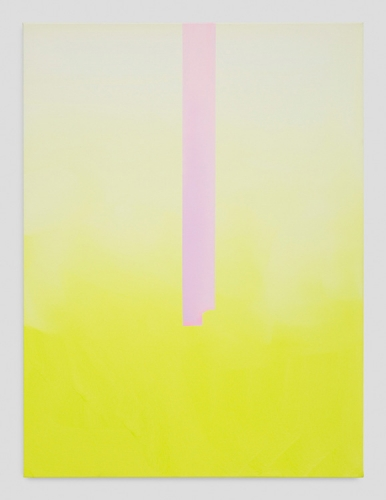 "Wanda Koop, ""In Absentia (Luminous Yellow - White - Lilac),"" 2017"