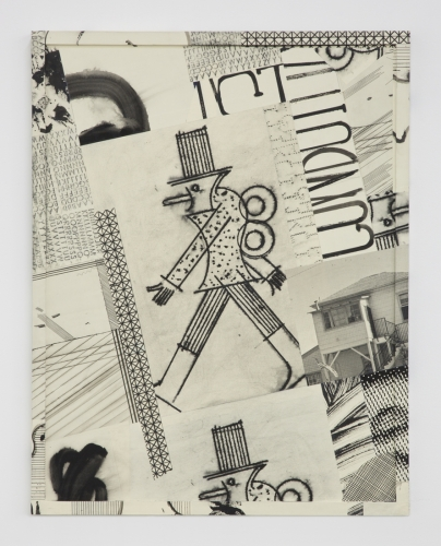 "David Korty, ""Paper Frames #2,"" 2015, ink and silkscreen on panel"