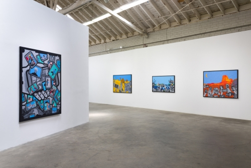 Installation view, On the Road, 2017
