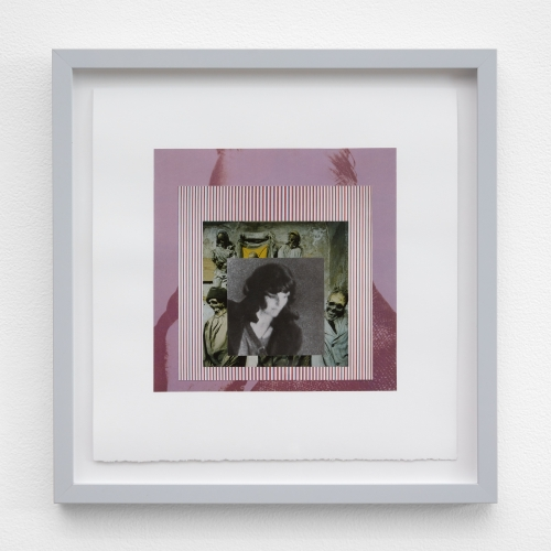 """William E. Jones, """"Homage to the Square 11 (Andy Warhol—Bridget Riley—catacombs—Patty Hearst),"""" 2019"""