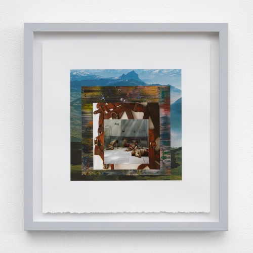 "William E. Jones, ""Homage to the Square 9 (Swiss Alps—Gerhard Richter—Maison Margiela—Turkish bath),"" 2019"