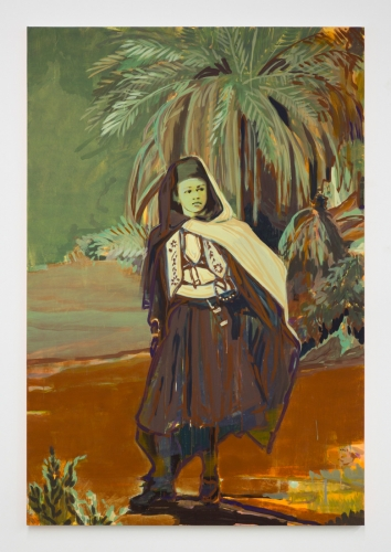 """Claire Tabouret, """"The Wanderer (Ochre Red),"""" 2017"""