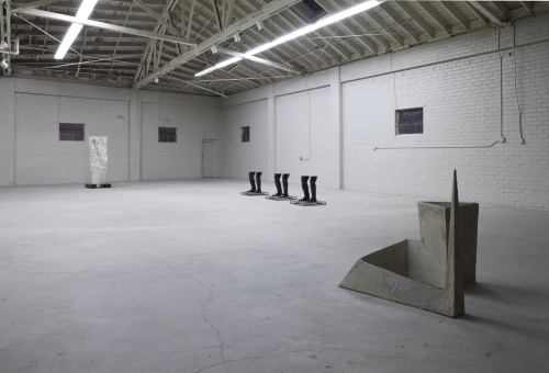 Installation view, The Mocking Hand, 2013.