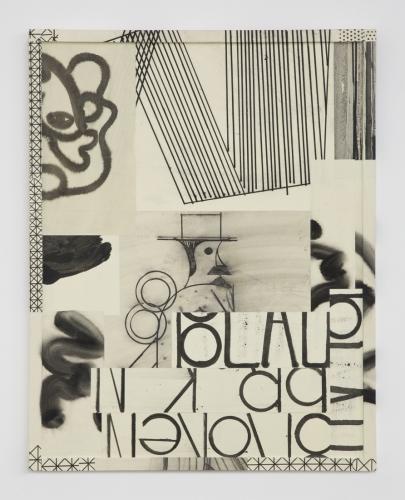"David Korty, ""Paper Frames #4,"" 2015, ink and silkscreen on panel"