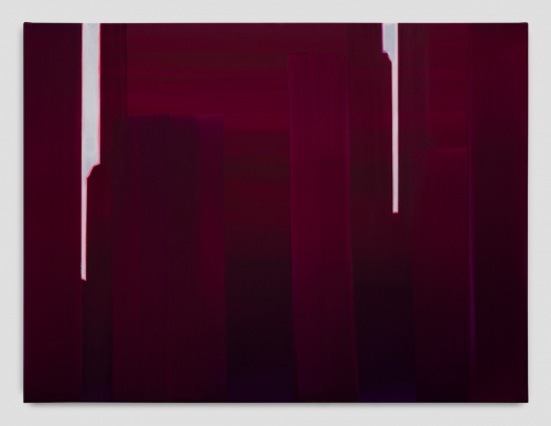 """In Absentia (Deep Magenta - Bright White),"" 2017"