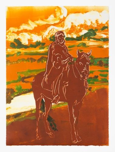 "Claire Tabouret, ""The Nomad (orange),"" 2016"