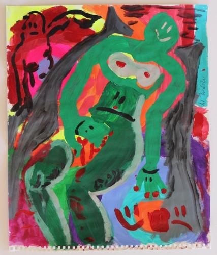 "Marcel Alcala, ""Olympia verde,"" 2014"