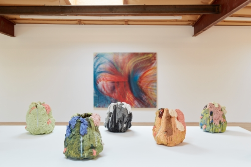 On Boxing, installation view at Blum & Poe, Los Angeles, CA, 2021. Photo: Heather Rasmussen