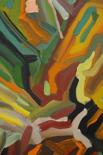 """Mt. Wilson (Green, Green, Black, Yellow, Green),"" 2015. Detail."