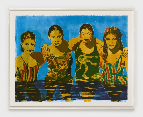 """Claire Tabouret, """"The Swimmers (blue),"""" 2019"""