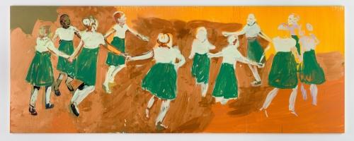 """Circle Dance (Orange Sun),"" 2017"