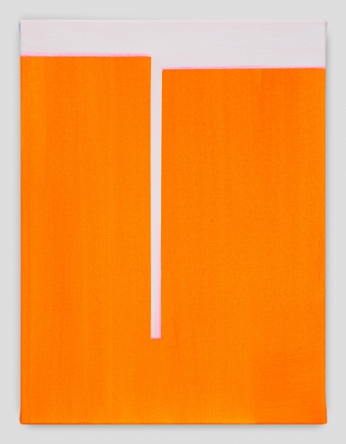 """In Absentia (Brilliant Orange - White Pink),"" 2017"
