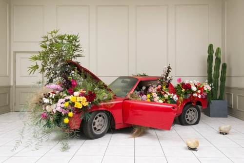 """""""Ask the Dust,"""" installation view in Bad II the Bone, 2016"""