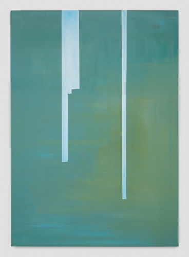 """""""In Absentia (Water Lily Green - Horizon Blue),"""" 2017"""
