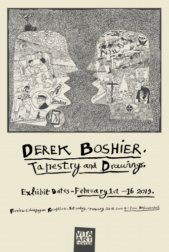 Derek Boshier: Tapestry and Drawings at Vita Art Center