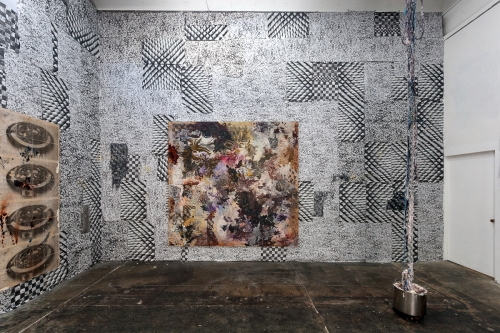 Installation view, Solid Single Burner, Michael Jon Gallery, 2014