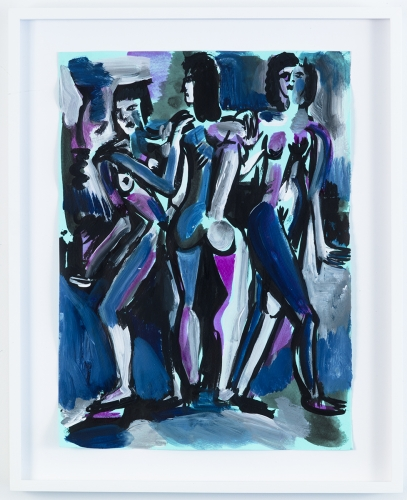 """Three Graces Blue,"" 2015"