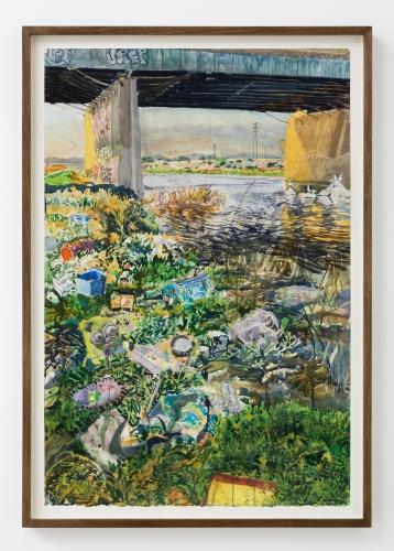 """Sterling Wells, """"Falling Tide (Long Beach),"""" 2021"""