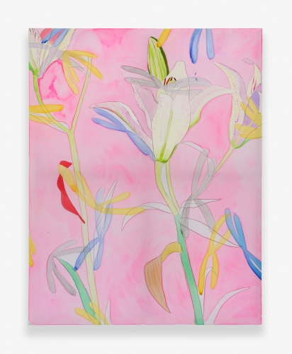 """""""White Lily on Pink,"""" 2015"""
