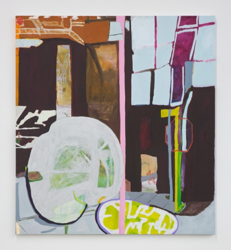 """Marisa Takal, """"Picture of a Busted Car on Bowery on a Special Night, Later Seen in Person on a Rainy Night, The Beginning of Many Rainy Nights (Apollo Brawn),"""" 2016"""