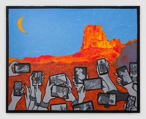 """Derek Boshier, """"Guadalupe Mountains,"""" 2017"""