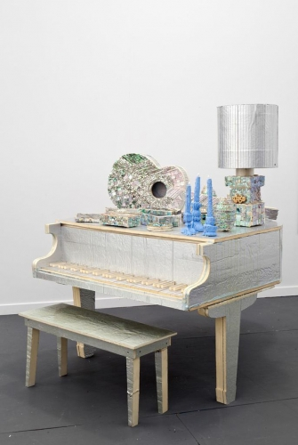 "Piano from ""Mass Murder,"" Installation view at Frieze NY, 2014"