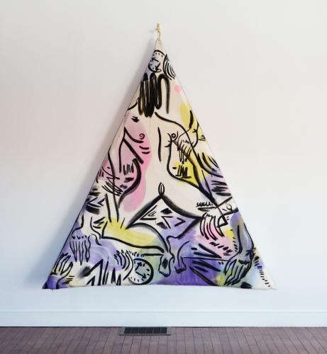 """Psychic Massage Pillow Pose,"" 2014"