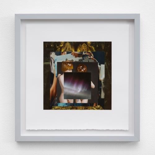 "William E. Jones, ""Homage to the Square 6 (Tomb of Henry VII—Alexander McQueen—Jeff Koons—aurora borealis),"" 2019"
