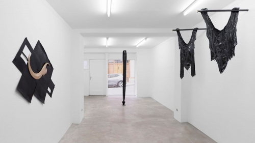 """""""Skin Grafts for CT Scans,"""" installation view at Antoine Levi Gallery, 2015"""
