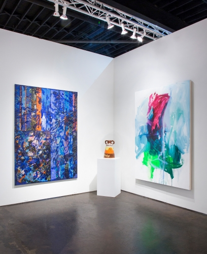 JPW3, Grant Levy-Lucero, and Andrea Marie Breiling, iinstallation view at NADA Miami, 2018.