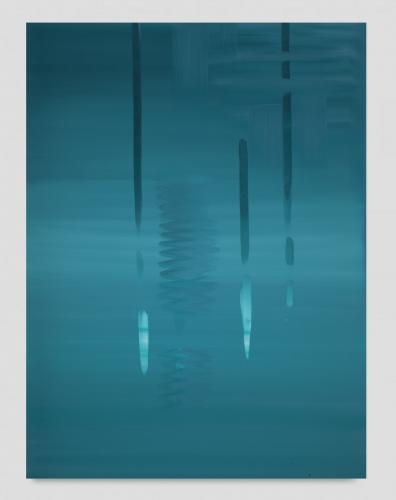 """Wanda Koop, """"Reflect (Deep Teal),"""" 2019"""