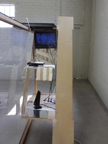 """Neïl Beloufa, """"Shelf and SciFi,"""" 2013"""
