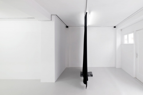 """""""Opera (in black),"""" installation view at Antoine Levi Gallery, 2017"""