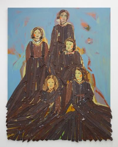 """Claire Tabouret, """"Monument (blue),"""" 2019"""