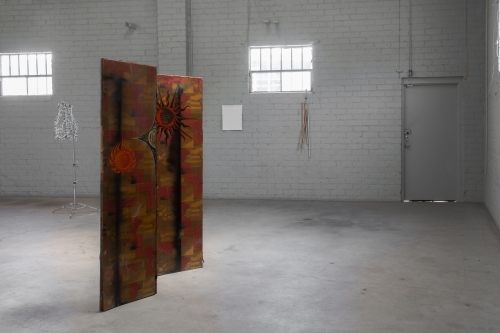 "Anna Rosen, ""Sun Screen,"" installation view in ck1 Daily, 2014."