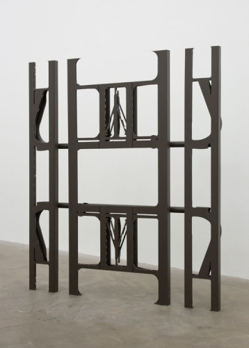 """Anne Libby, """"Die, Regenerate or Multiply (Benches Branch)"""", 2015, high-density polyethylene, powder coated steel"""