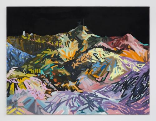 """""""Mt. Wilson (Green, Blue, Red, Orange, Black),"""" 2015."""