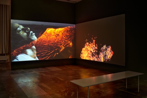 A FIRE IN MY BELLY, installation view, JSC Berlin, 2021. Photo: Alwin Lay