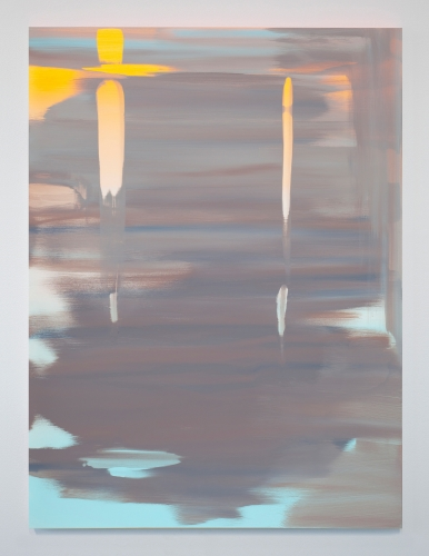 "Wanda Koop, ""Reflect (Luminous Orange-Horizon Blue),"" 2018"