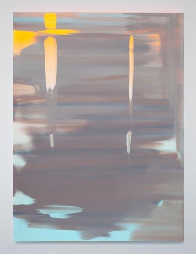 "Wanda Koop, ""Reflect (Luminous Orange-Horizon Blue),"" 2018"