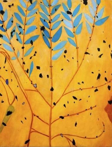 """Paul Heyer, """"Blue Leaves,"""" 2012"""