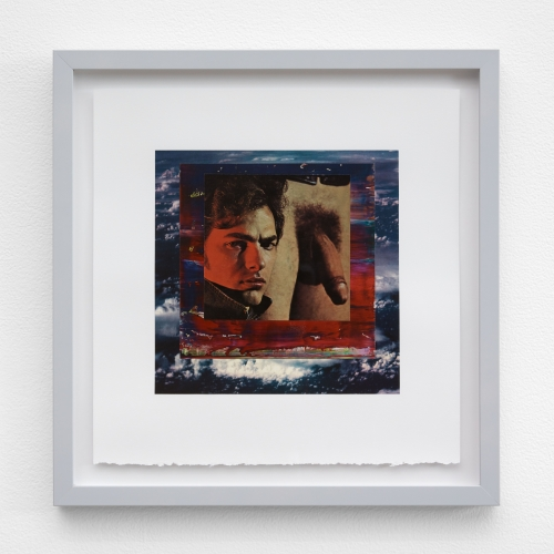 """William E. Jones, """"Homage to the Square 3—variation (Storm clouds—Gerhard Richter—man and penis),"""" 2019"""