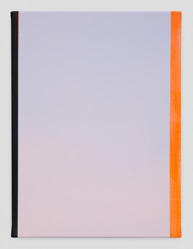 """""""In Absentia (Black - Luminous Lilac - Orange),"""" 2017"""